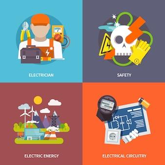 Conjunto plano de eletricidade