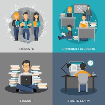 Conjunto plano de estudante