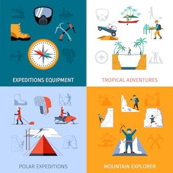 Conjunto plano de expedição