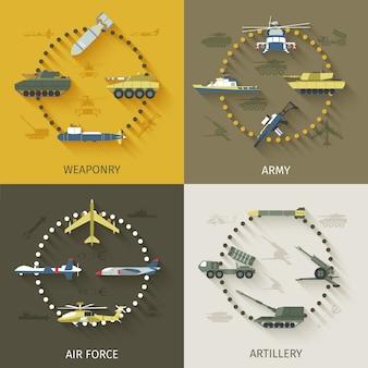 Conjunto plano do exército