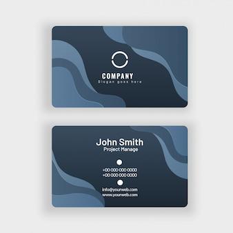 Conjunto profissional abstrato de cartão ou de cartão de visita.