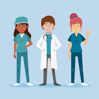 Conjunto profissional de saúde