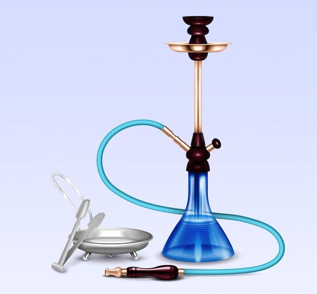 Conjunto realista de acessórios para fumar cachimbo de água