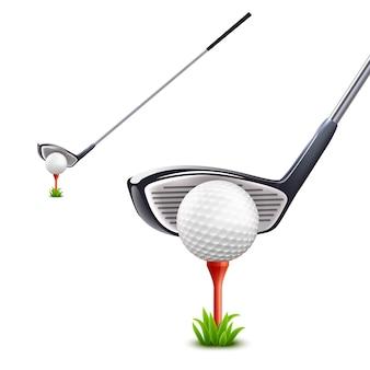 Conjunto realista de golfe