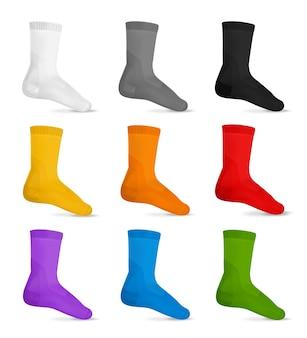Conjunto realista de meias masculinas modernas casuais
