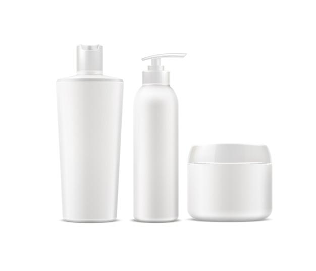 Conjunto realista de produtos de banho e spa