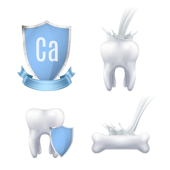 Conjunto realista de proteção de cálcio