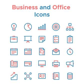 Conjunto simples de ícones de linha do vetor para fins comerciais