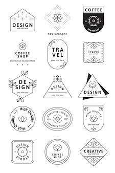 Conjunto simples logotipo
