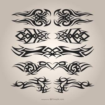 Conjunto tatuagens tribais