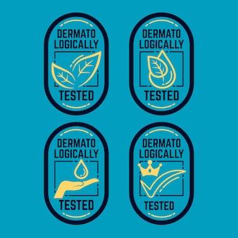 Conjunto testado dermatologicamente