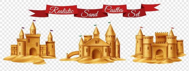 Conjunto transparente de castelo de areia