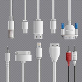 Conjunto transparente de conectores de cabo