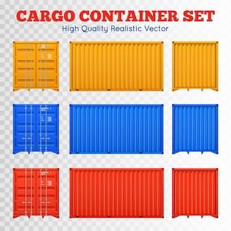 Conjunto transparente de contentor de carga