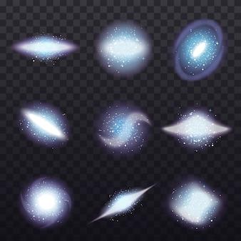 Conjunto transparente de estrelas