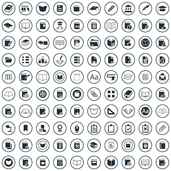Conjunto universal de ícones de 100 livros