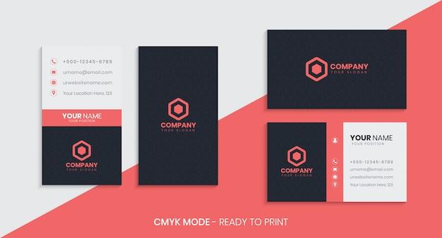Conjunto vertical e horizontal de cartão de visita criativo