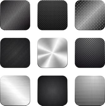 Conjunto vextor de aplicativos texturizados.