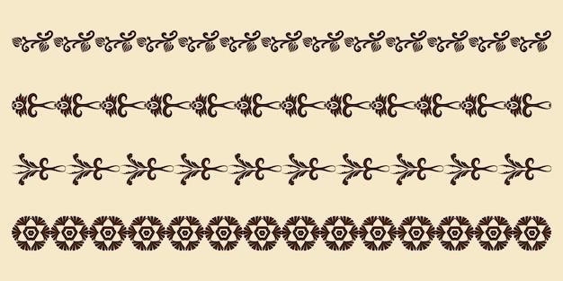Conjunto vintage de elementos decorativos para o design de menus de quadros, convites ou etiquetas de casamento
