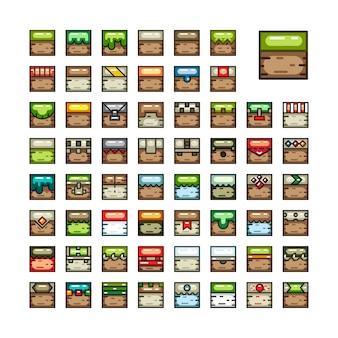 Conjuntos de azulejos 2d para videogame
