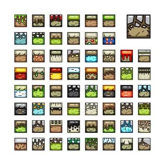 Conjuntos de azulejos para jogos de vídeo