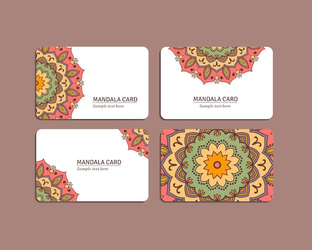Conjuntos de cartões de mandala