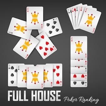 Conjuntos de casinos de classificação de pôquer full house
