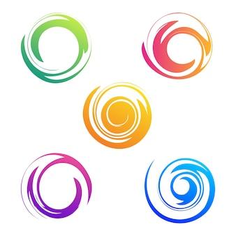 Conjuntos de coleção espiral abstrata