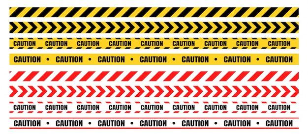 Conjuntos de fitas de advertência perigosas