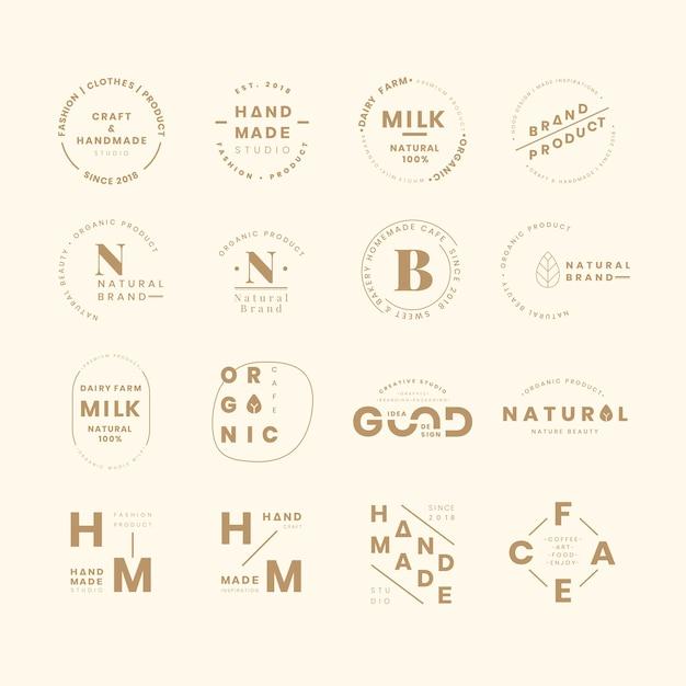 Conjuntos de logotipo da marca