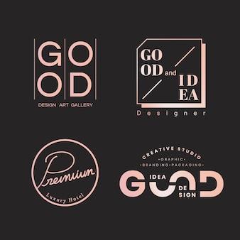 Conjuntos de logotipo de qualidade