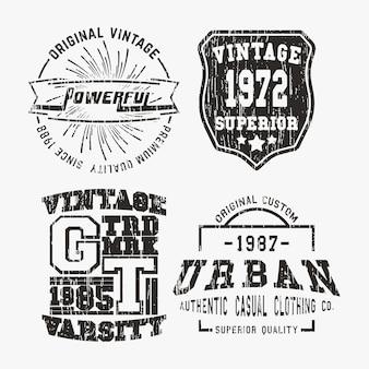 Conjuntos de selos vintage