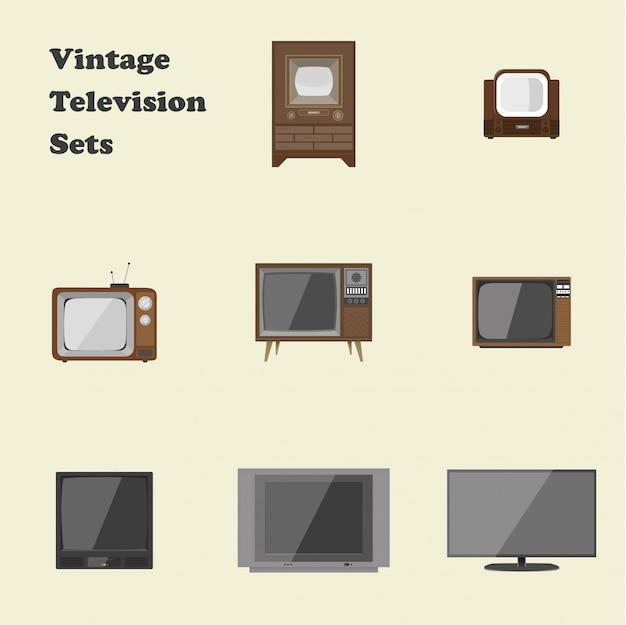 Conjuntos de televisão vintage