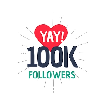 Conquista de 100k seguidores nas redes sociais