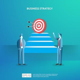 Conquista de metas de negócios, visão e conceito de plano para finanças de planejamento e gerenciamento. gestão de estratégia de lucro de receita de investimento bem-sucedida