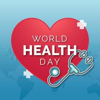 Conscientização alegre do dia mundial da saúde