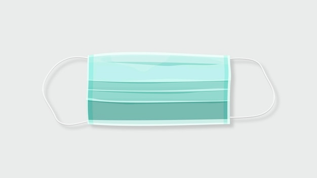 Conscientização covid-19 de máscara cirúrgica verde descartável