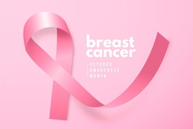 Conscientização do câncer com fita rosa