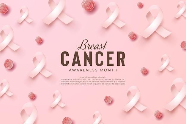 Conscientização do câncer de mama com fita adesiva espalhada