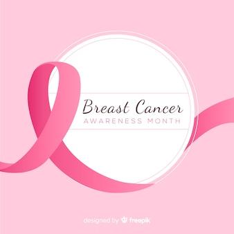 Conscientização do câncer de mama com fita rosa