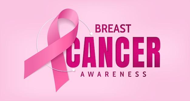 Conscientização do câncer de mama, desenho vetorial