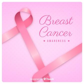 Conscientização do câncer de mama e fita rosa
