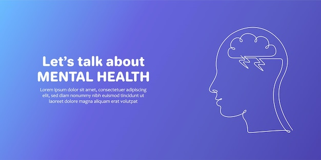 Conscientização do dia mundial da saúde mental