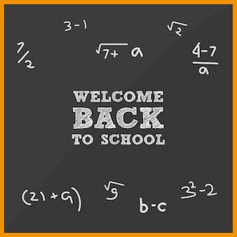 Conselho escolar bem-vindo de volta à escola