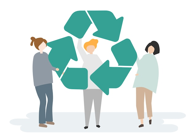Conservação ambiental e o símbolo de reciclagem