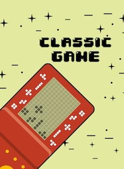 Consola de jogos clássico jogo de vídeo