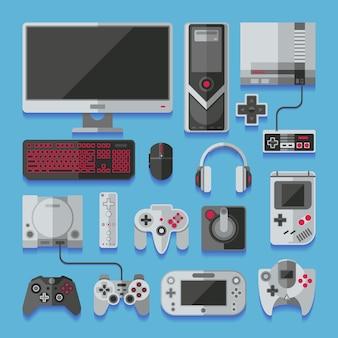 Consola de jogos online de vídeo digital de computador