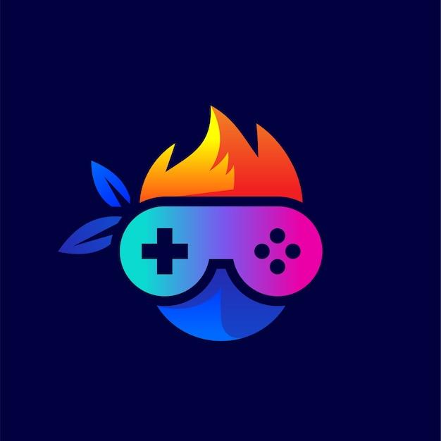 Console e ninja para design de logotipo de jogos
