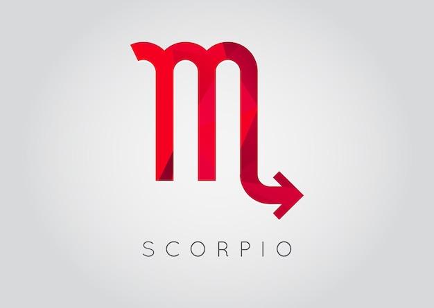Constelação de escorpião. ícone detalhado e elegante do zodíaco. desenho de estilo moderno. ilustração vetorial.
