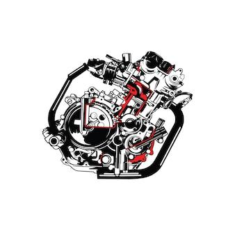 Construção da máquina da motocicleta